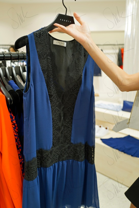 Deep Blue + Lace Dress
