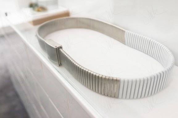 Silver and White Belt