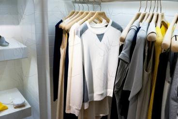 Leather Panel Sweatshirt