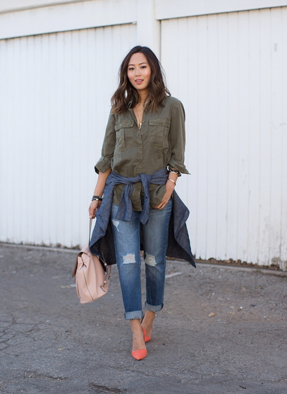 aimee_song_green_Shirt_boyfriend_jeans