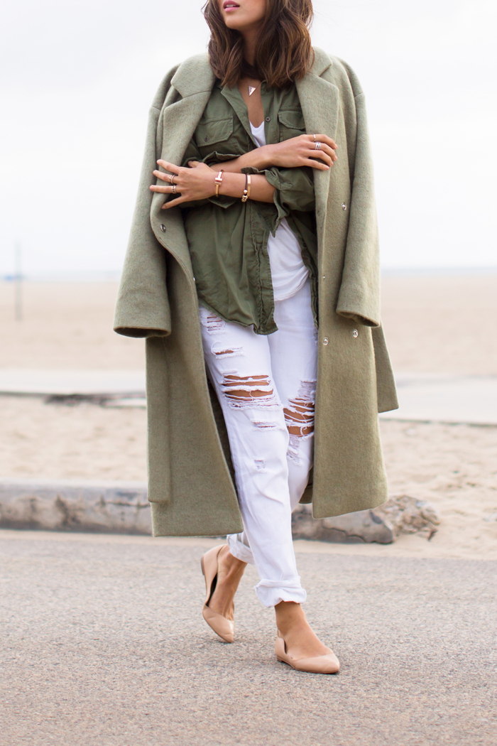 aimee_song_oversized_coat_white_ripped_jeans_ballet_flats